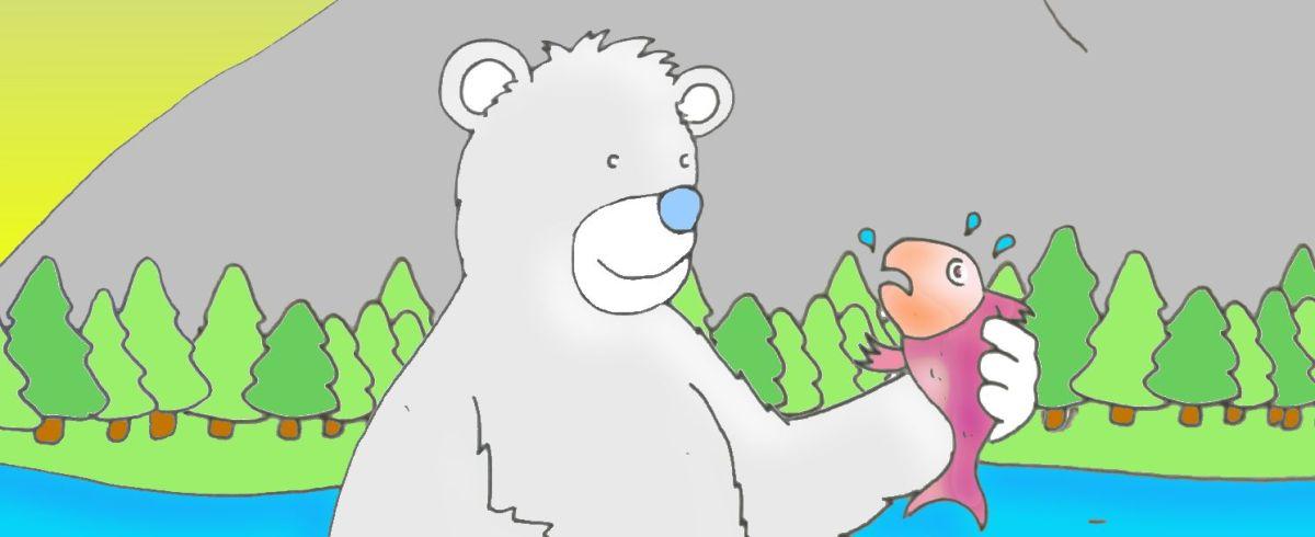 O Salmão e o Urso